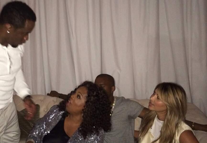 Kim, Kanye et leurs amis
