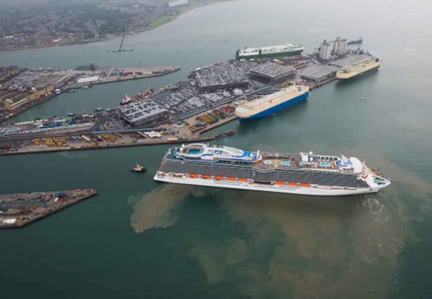 Les docks de Southampton, au sud de l'Angleterre (Hampshire)