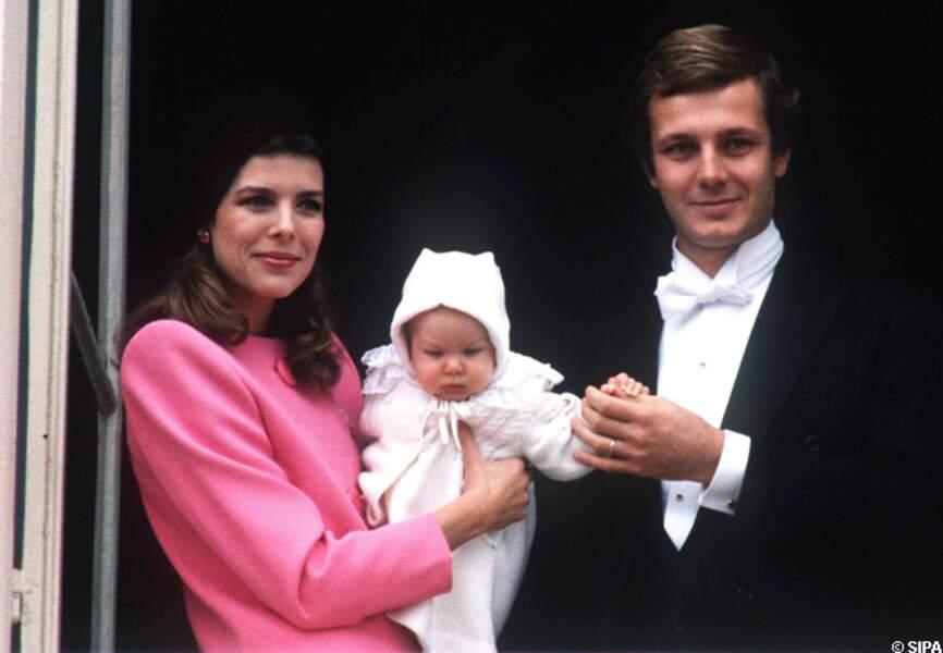 Andrea Casiraghi bébé et ses parents