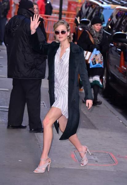 Jennifer Lawrence dans les rues de New York