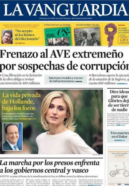 Une du journal catalan La Vanguardia