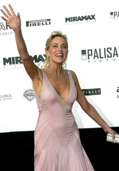 Sharon Stone au dîner de l'amfAR en 2005