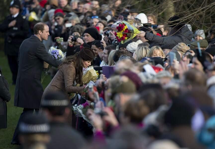 Bain de foule pour Kate et William