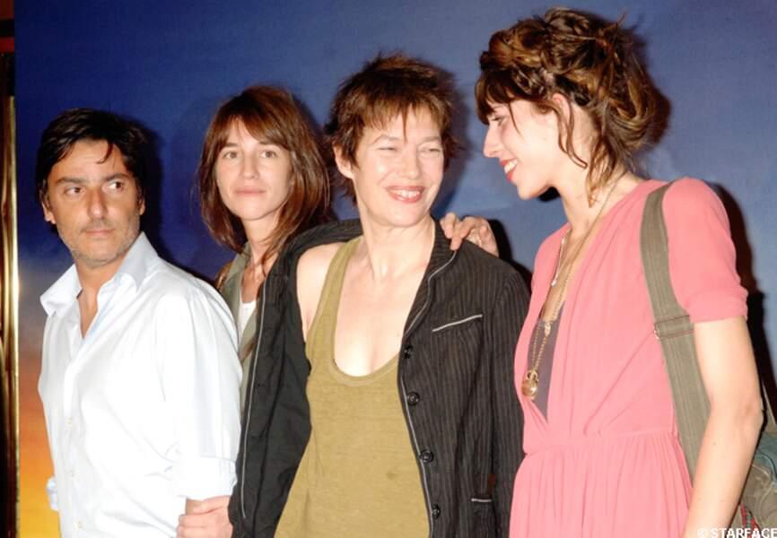 Yvan Attal, Charlotte Gainsbourg, Jane Birkin et Lou Doillon