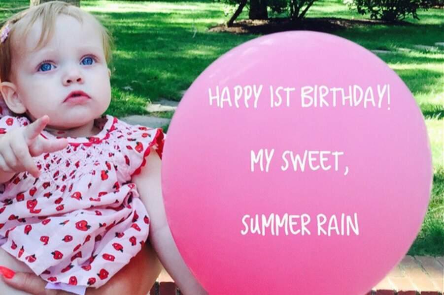 Christina Aguilera fête aussi l'anniversaire de sa petite Summer Rain, tout juste 1 an!