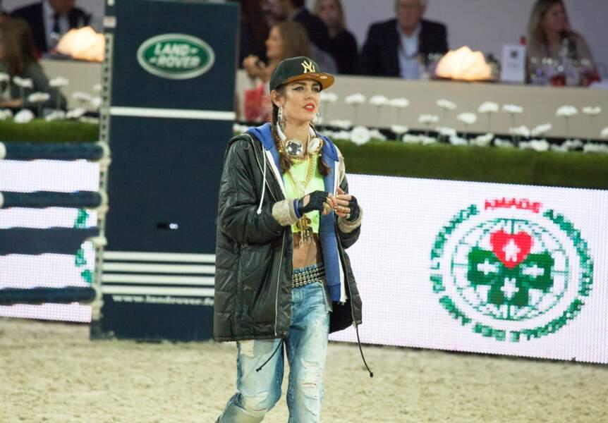 Charlotte Casiraghi fait sa reconnaissance du parcours