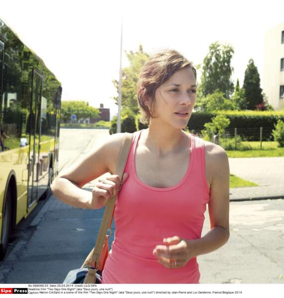 2014, Marion Cotillard sans fard pour Deux jours, une nuit