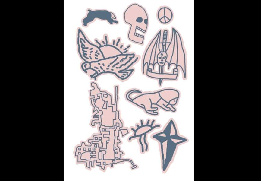 Tink-it - Untitled - Olivier Kosta-Thefaine – 2 planches de 9 tatouages – 500ex. numérotés - 15€