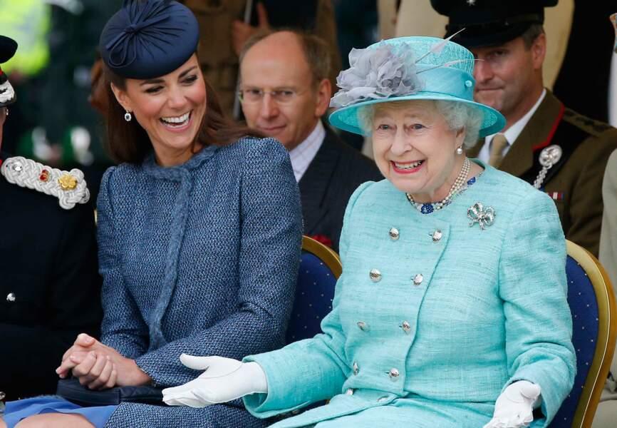 Kate a su gagner l'affection de la reine Elisabeth II