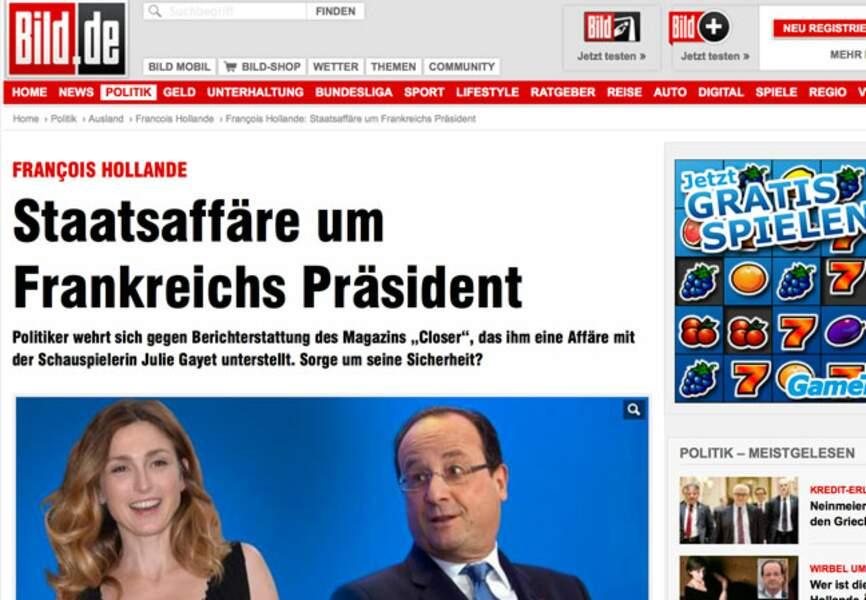 La presse allemande n'en perd pas une miette à l'image de Bild