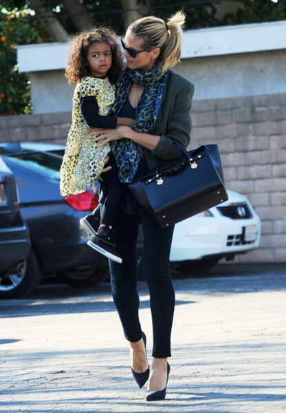 Heidi Klum et Lou à Beverly Hills