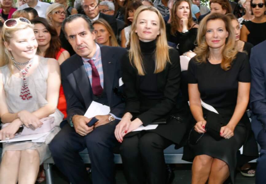 Valérie Trierweiler au premier rang du défilé Dior