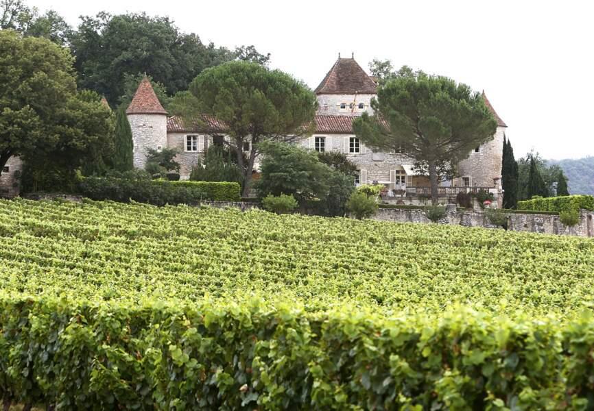 La résidence de la reine danoise  Margrethe II et du prince Henrik près de Cahors