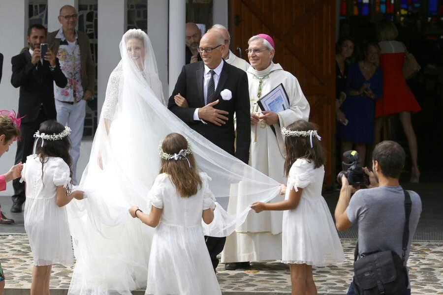 Le mariage de Pascal Obispo & Julie Hantson - ABACA