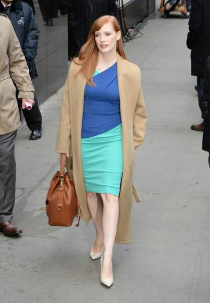 Jessica Chastain entre sexy et matière cocooning