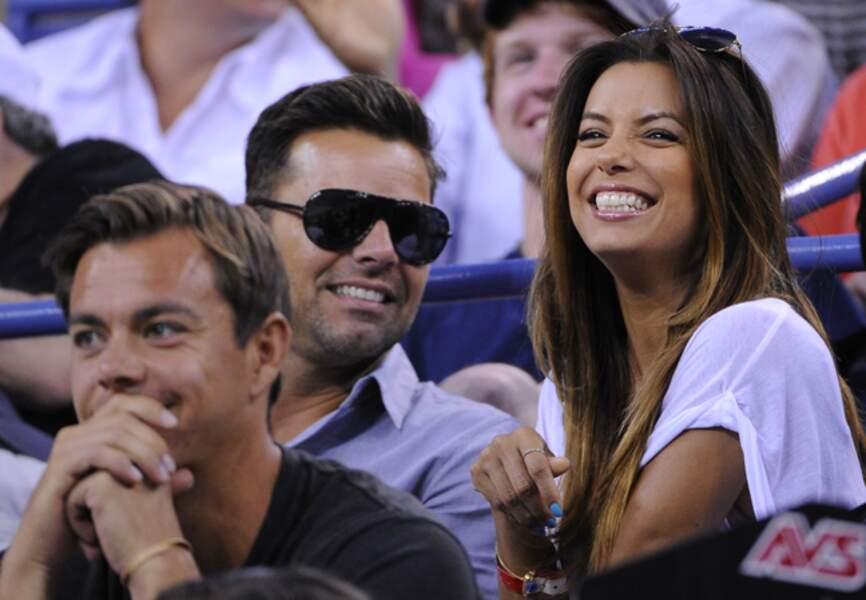 Avec son ami Ricky Martin, elle soutient Serena Williams lors de la finale de l'US Open