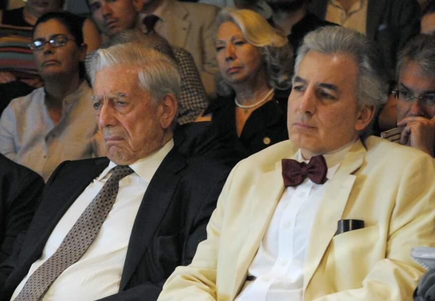 Mario Vargas Llosa et son fils Alvaro