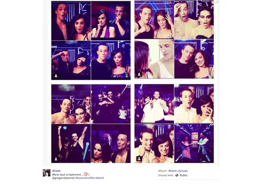 Alizée célèbre sa victoire dans #dals sur Facebook