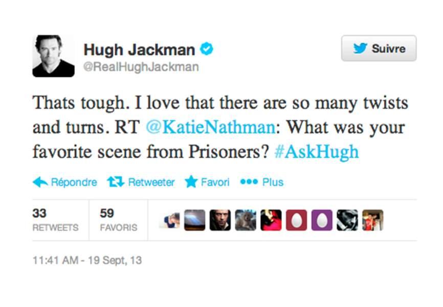 Hugh Jackman est très proche de ses fans: il répond aux questions taguées #askhugh