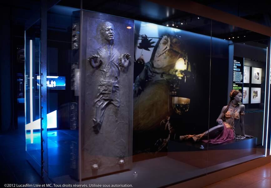 Han Solo mal en point sous le regard de Jabba le Hutt