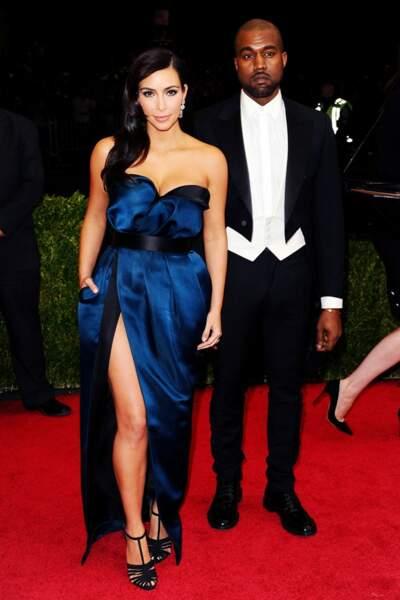 Kim Kardashian, en Lanvin, et Kanye West