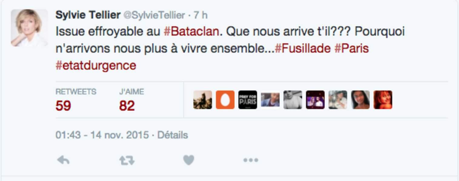 Sylvie Tellier, sous le choc