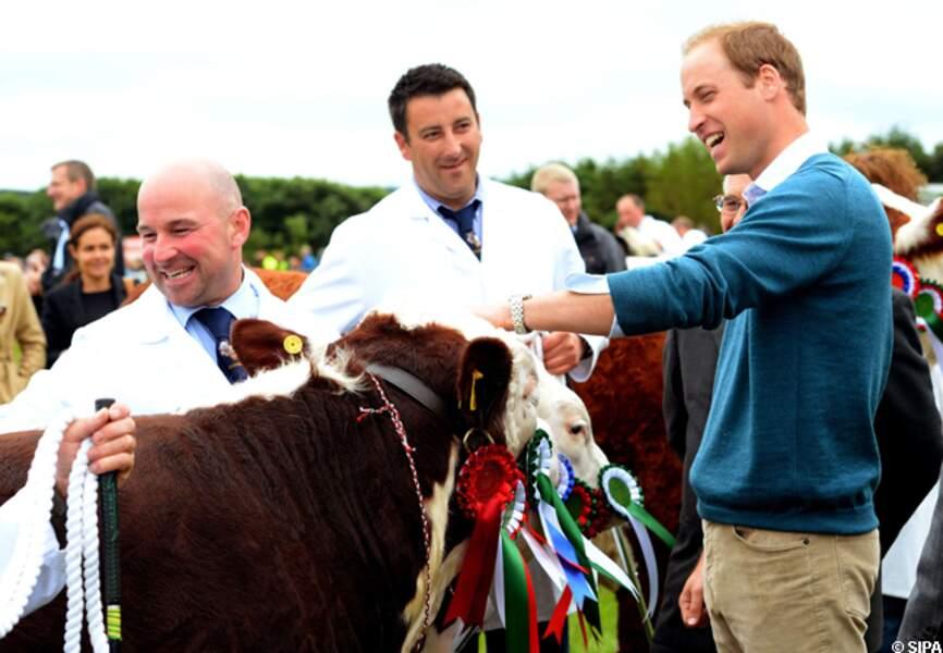 Le prince William adore les bêtes