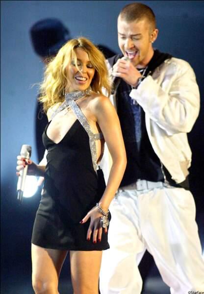 Brit Awards 2003, Kylie Minogue avec Justin Timberlake