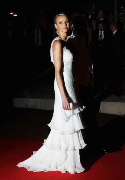 La princesse sublime dans sa robe de soirée Armani Privé