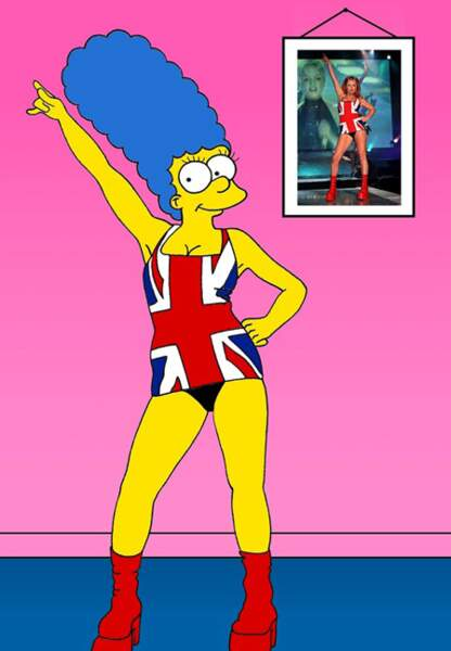 Marge Geri Halliwell époque Spice Girls