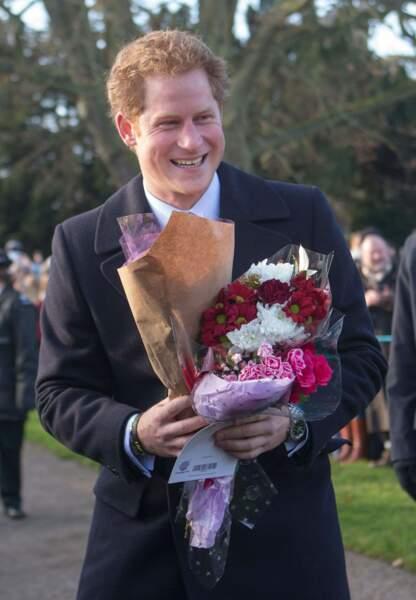 Harry aussi a reçu des fleurs
