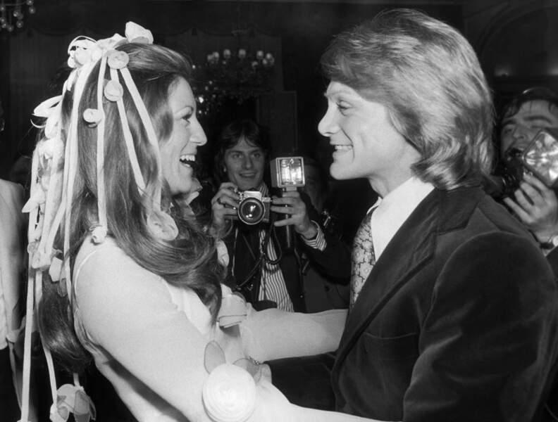 LA CHANTEUSE SHEILA ET CLAUDE FRANCOIS EN 1973