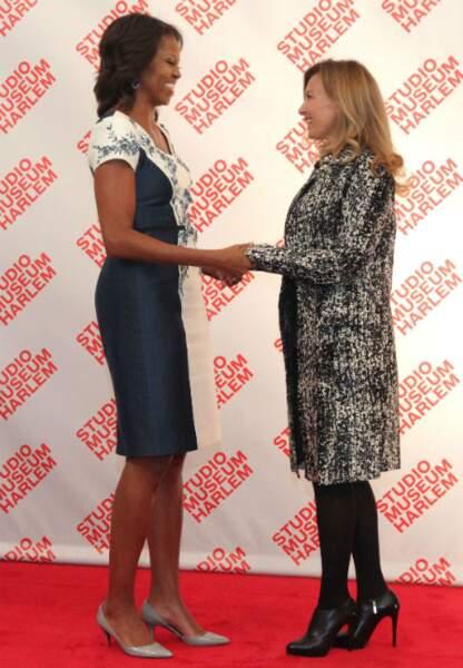 Avec Michelle Obama en marge de l'assemblée générale de l'ONU