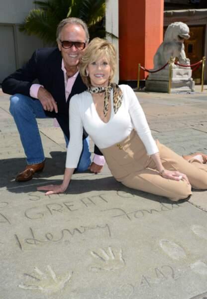 Avec son frère Peter Fonda