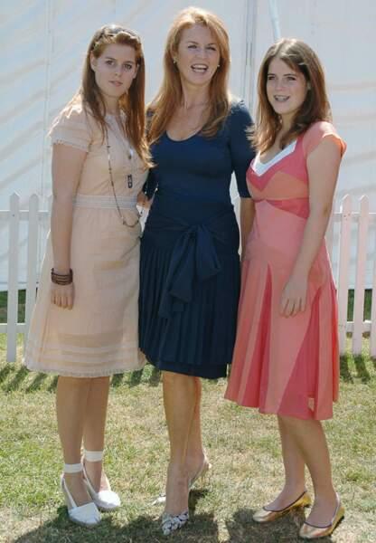 Fergie très athlétique et ses deux filles Béatrice et Eugénie