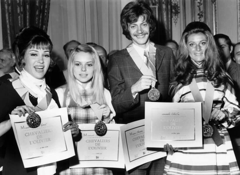 RIKA ZARAI, FRANCE GALL, ANTOINE ET SHEILA EN 1969
