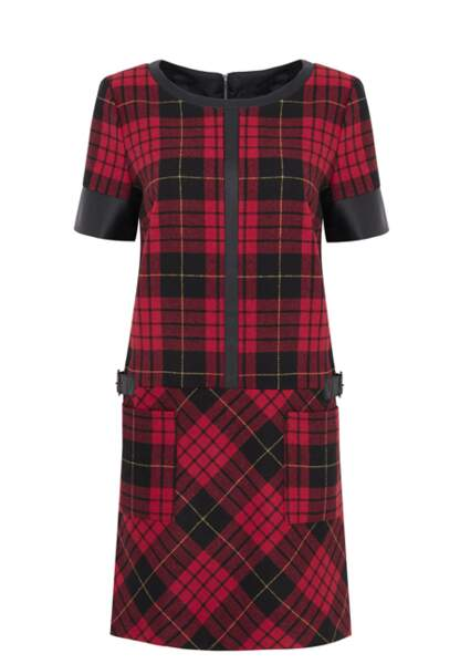 M&S – Robe tartan rouge – 58,95€