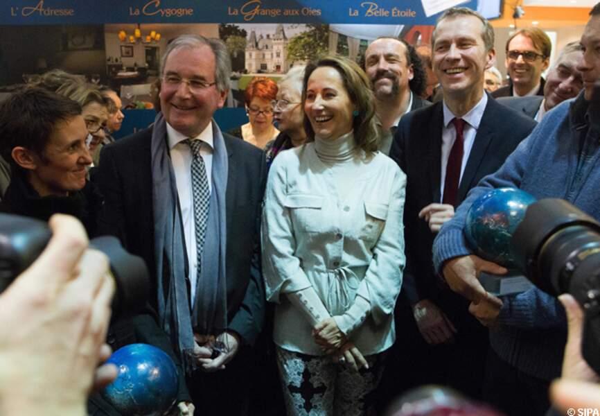 Ségolène Royal tout sourire au salon de l'Agriculture