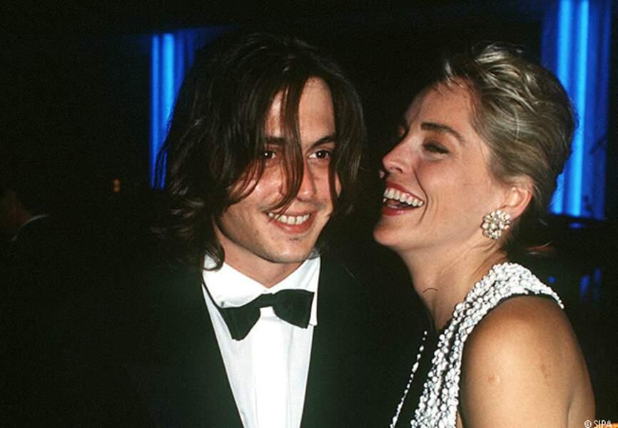 Sharon Stone rencontre Johnny Depp en 1992