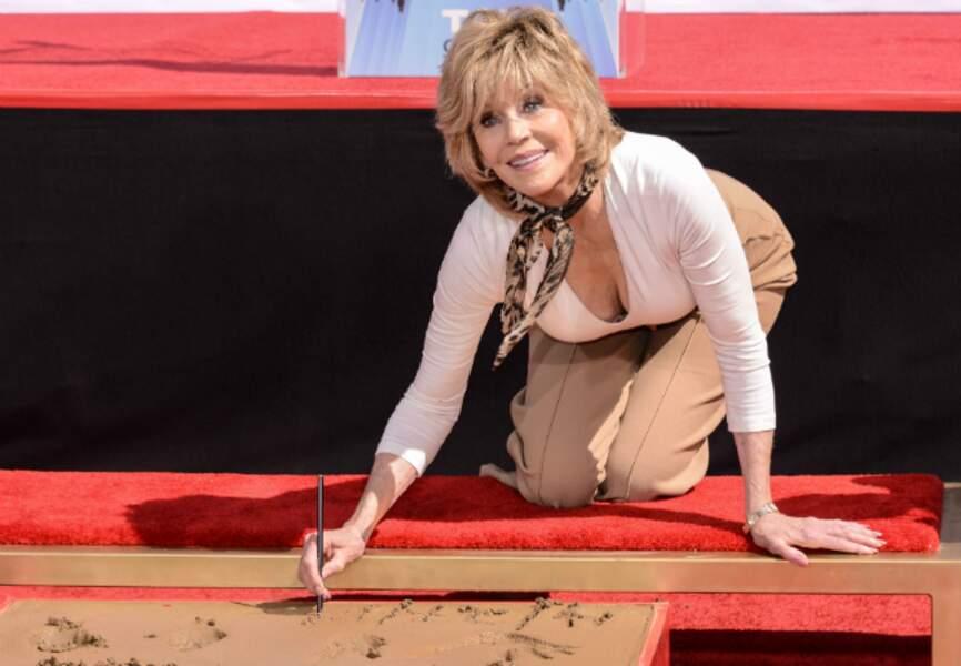 Jane Fonda à 75 ans a reçu les honneurs devant le Chinese Theatre