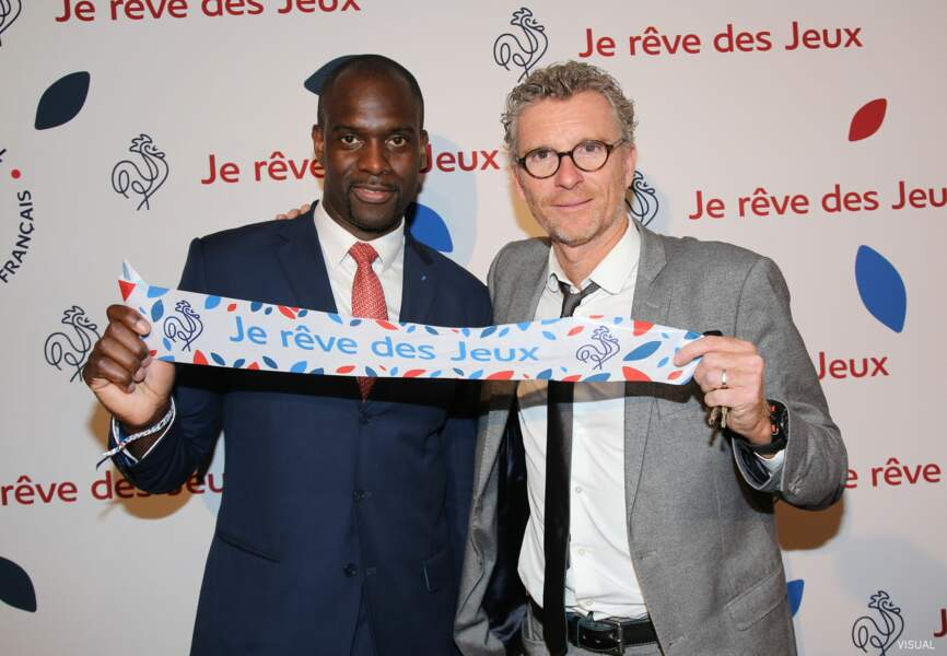 Le sportif Pascal Gentil et l'animateur Denis Brogniart ont affiché leur soutien