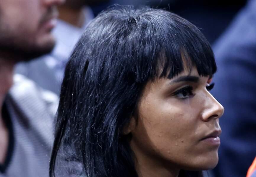 La chanteuse Shy'm a assisté à la victoire de son champion Benoît Paire dans les gradins de l'Accor Hôtels Arena