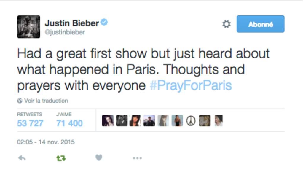 Justin Bieber se souvient de ses fans parisiens