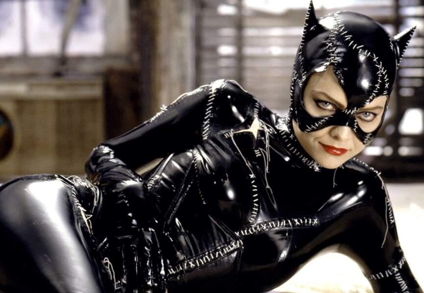 Michelle Pfeiffer en Catwoman dans Batman, le défi de Tim Burton. (1992)