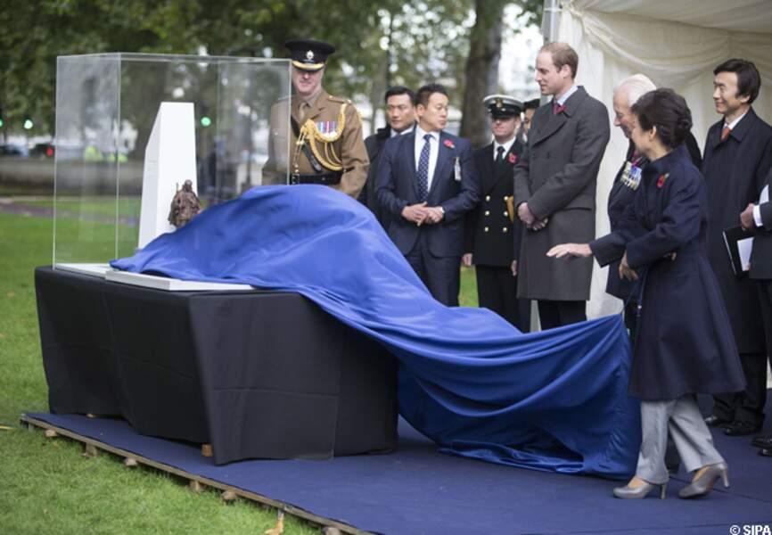 La maquette de la statue commémorative en mémoire des soldats morts en Corée