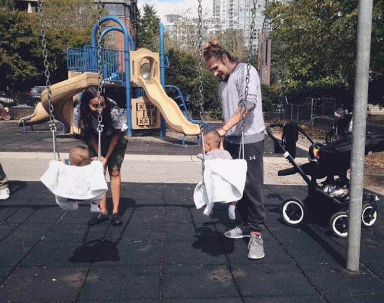 Zoe Saldana et son compagnon Marco Perego ont accueilli leurs premiers enfants, des jumeaux, le 8 décembre 2014