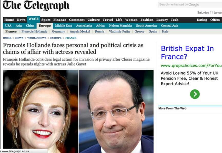 The Telegraph fustige la relation entre l'actrice et le président