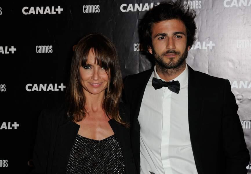 Axelle Laffont et Cyril Paglino à la soirée Canal +