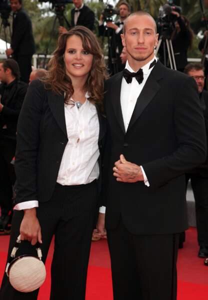A Cannes, elle monte les Cannes peu après son accouchement