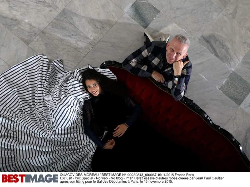 Jean-Paul Gaultier, fier d'Iman Pérez